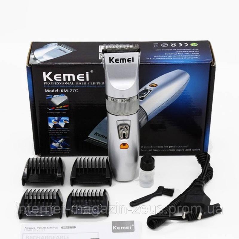 Машинка для стрижки аккумуляторная Kemei KM 27C
