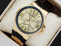 Кварцевые наручные часы Ulysse Nardin с римскими цифрами на каучуковом ремешке, фото 1