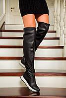 Стильные женские кожаные ботфорды В30280, фото 1
