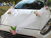 Фатиновая лента с Розовыми цветами