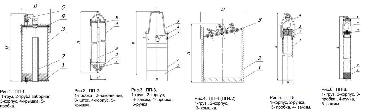 Пробоотборники металлические ДСТУ 4488:2005