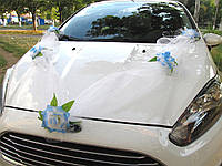 Фатиновая лента с Голубыми цветами