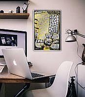 "Скретч постер ""100 ДЕЛ TRUEFAN Edition"" (тубус) на укр. яз."