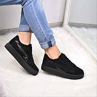 Кроссовки криперы Lines черные 3645, спортивная обувь