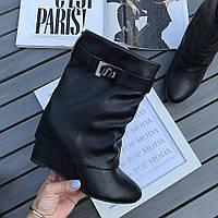Женские сапоги короткие люкс копия Givenchy черные