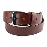 Мужской кожаный ремень B-02 (коричневый) (4 см)