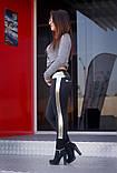 """Лосіни жіночі з шкіряними вставками """"Алекс"""", фото 2"""