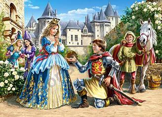 Пазлы Castorland Принцесса и рыцарь, 300 элементов