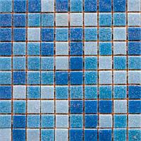 Мозаика Guangzhou rose стеклянная микс 327х327 мм темно-голубая
