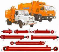 Гидроцилиндр открывание заднего борта 16ГЦ.80/50 ПП.000-800 автомобиля по вывозу мусора ТБО КО-413,КО-415