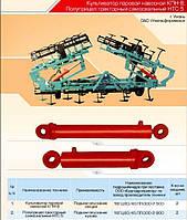 Гидроцилиндр подъема и опускания кузова 16ГЦ.80/40.ПП.000-2-800 полуприцепа тракторного самосвального НТС-5