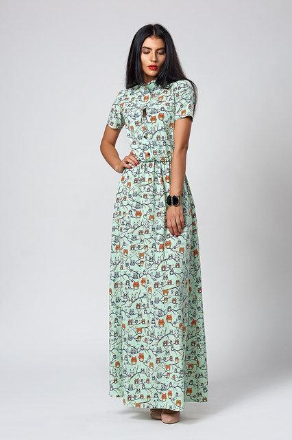cd40146ffc809ef Молодежное летнее платье длинное в пол рубашечного фасона -  Оптово-розничный магазин одежды