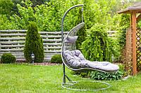 Садовое плетенное кокон кресло из ротанга Capacio gray, Львов