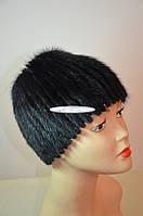 Шапка женская, парик с донышком, мех ондатра