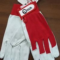 Перчатки комбинированные кожа и ткань (SP-0012)