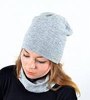 Комплект ангоровый хомут-шапка с флисом