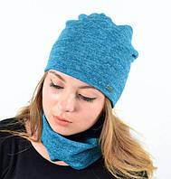 Комплект осенний хомут-шапка с флисом
