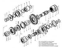 Вал раздаточный 700А.17.01.163  коробки перемены передач трактора Кировец К 700,К 701