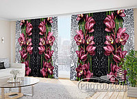 """Фото Шторы в зал """"Капля красоты"""" 2,7м*2,9м (2 полотна по 1,45м), тесьма, фото 1"""