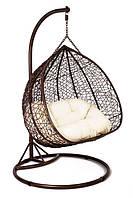 Садовое плетенное кокон кресло из ротанга Foggio brown, Львов