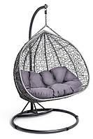 Садовое плетенное кокон кресло из ротанга Foggio gray, Львов