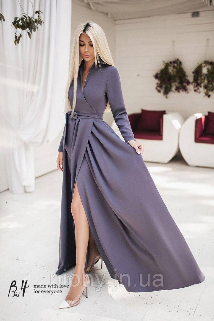 40991ea3619 Женское Платье на запах длинное в пол  продажа
