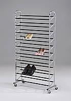 Полка стеллаж для обуви металлическая W-98