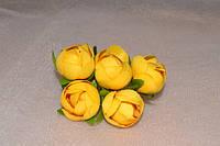 Роза бутон, цвет желтый