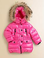"""Яркая зимняя куртка для девочки """"Монклер"""" высокого качества"""