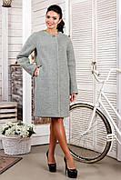 Женское бледно-зеленое пальто В-1018 Aрт.1606 Тон 47 44-58 размер