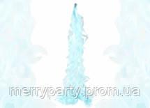 90 см Гирлянда-спираль из тишью нежно-голубая (кисточка)