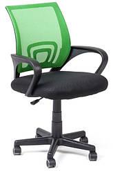 Офисный стул-кресло на колесиках зеленого цвета Comfort green
