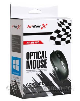 Оптическая мышь HI-RALI, M8150, USB, черная, фото 2
