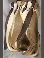 Волосы натуральные светлые прямые длина 71-90 см
