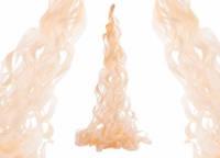 Гирлянда из тишью персиковая (кисточка) 90 см