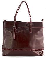 Удобная оригинальная стильная прочная женская сумка с натуральной масляной кожи SOLANA art. 8281-1 бордовая