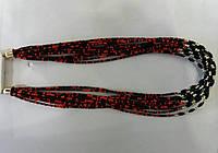 Красно чёрные бусы из бисера оптом 583