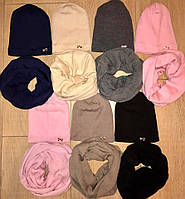 Комплект шапка+хомут тёплый
