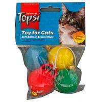 Мячи на резиновой веревке Topsi 4 шт