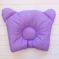 """Подушка мишка """"Фиолетовые горошки"""""""