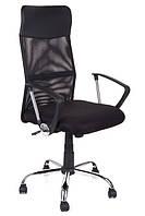 Офисный стул-кресло на колесиках черного цвета Prestige, Львов