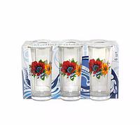 Набор высоких стаканов Акварель Полевые цветы 6 шт по 200 мл Gallery Glass 86003153