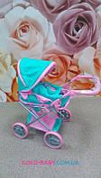Коляска для куклы 9346 Melogo розово-мятная от 2 лет. 2в1. Зима/лето.