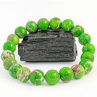 Варисцит зеленый, Ø10 мм., браслет, 282БРВ