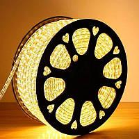 LED лента (дюралайт) 220V 60led/m SMD5050 6W IP67 Теплый белый (LT)