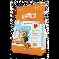Club 4 Paws повнораціонний сухий корм для дорослих котів з чутливим травленням