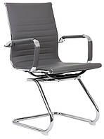 Офисный стул-кресло на колесиках серого цвета Classic grey