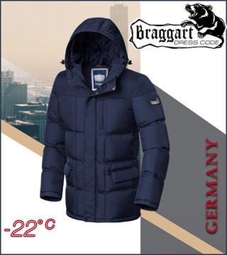Куртка теплая зимняя с капюшоном Braggart Dress Code р. 46 50