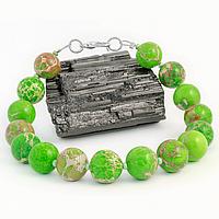 Варисцит зеленый, Ø10 мм., браслет, 283БРВ