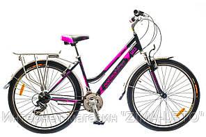 "Велосипед 26"" Optimabikes JUSMINE AM 14G     St с багажн. черно-фиолет.  2015 Акция"